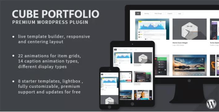 Cube portfolio plugin wordpress portfolio