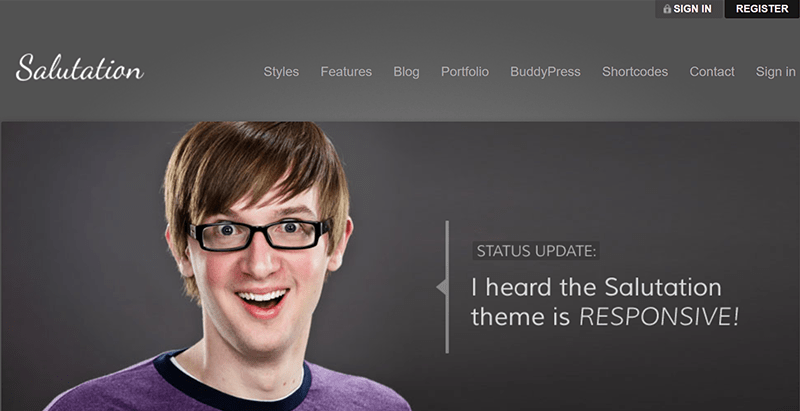Salutation Themes Wordpress Creer Reseau Social Buddypress