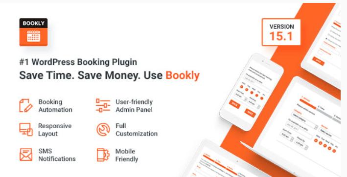 meilleurs plugins WordPress d'événements - Bookly