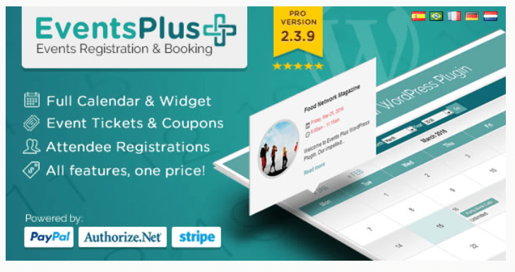 meilleurs plugins WordPress d'événements - Eventplus