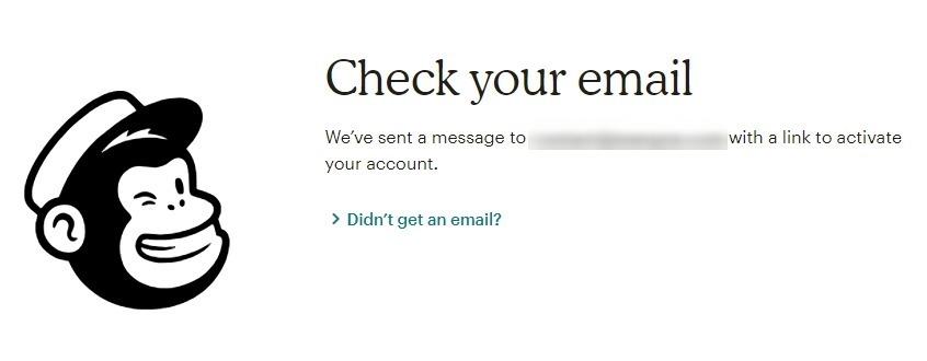Activation compte mailchimp
