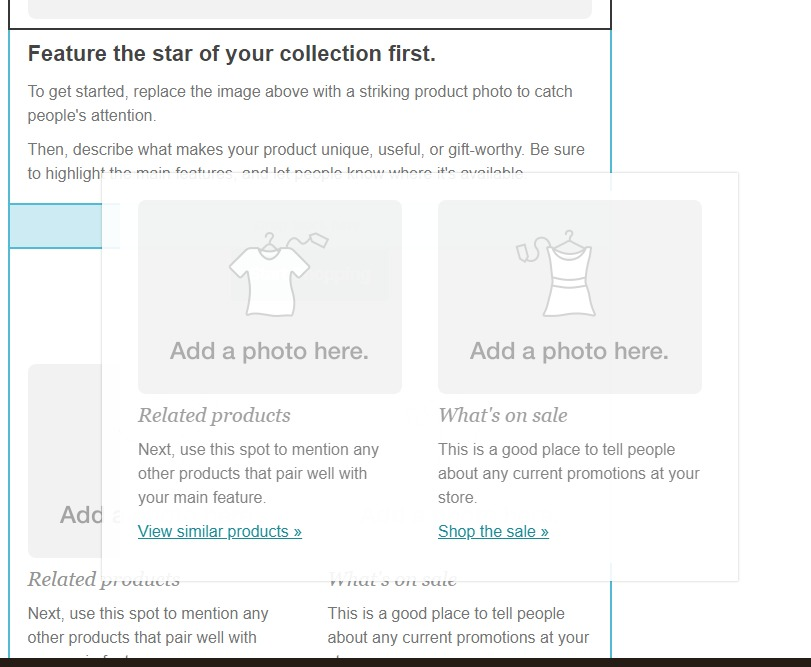Deplacer une section mailchimp