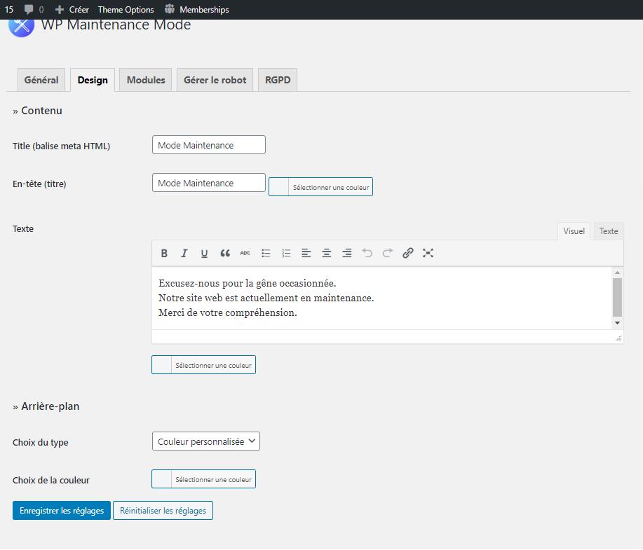 comment mettre blog wordpress en mode maintenance blogpascher 2