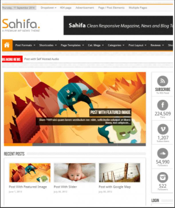 5 temas de WordPress para crear blogs o sitio web de la revista ...