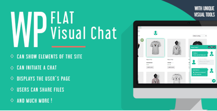 Wp flat visual chat live chat remote view for wordpress