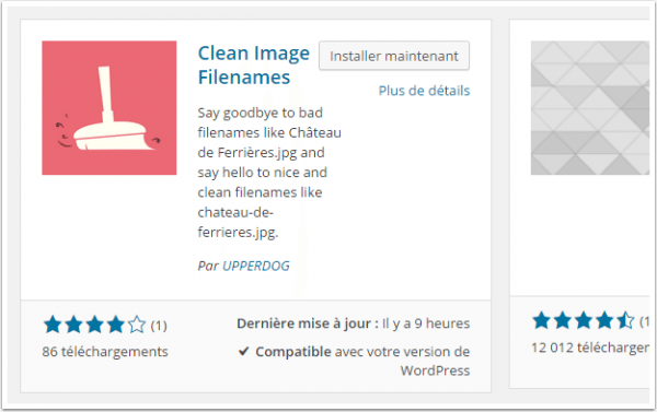 clean-image-filename-recherche-du-plugin