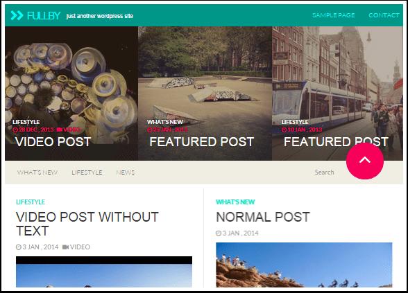 Fullby: el tema de WordPress libre de la semana | BlogPasCher