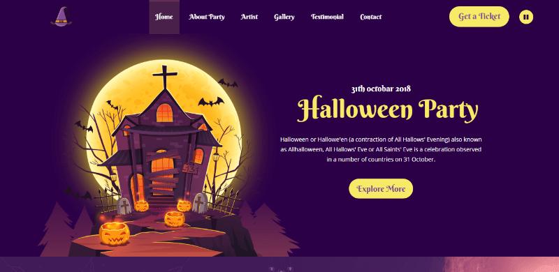 Allhallows thème wordpress halloween