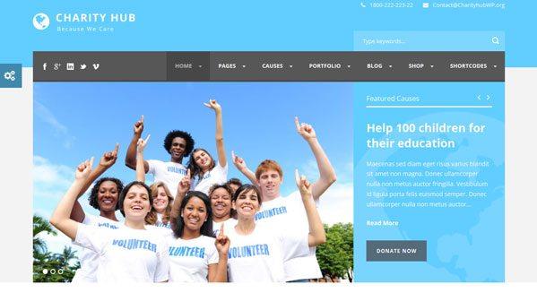 Charity Hub theme wordpress charite ong fondation caritative