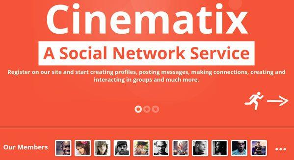 Cinematix creer reseau social wordpress