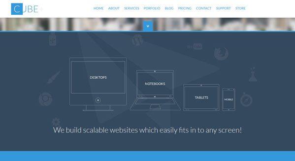 Cubo +: un tema de WordPress para crear un sitio de negocios ...