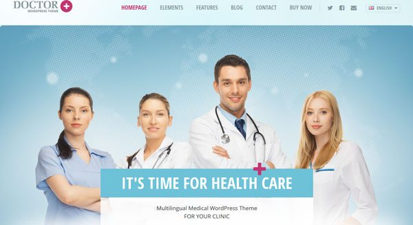 Doctor theme wordpress creer site web hopital clinique medecin docteur