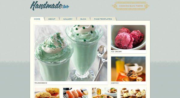 Handmade template wordpress creer blog recettes cuisine culinaire