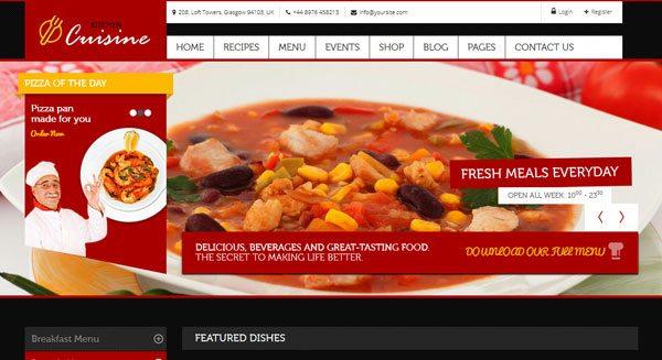 Kitchen Cuisine : Un thème WordPress pour restaurant et Café