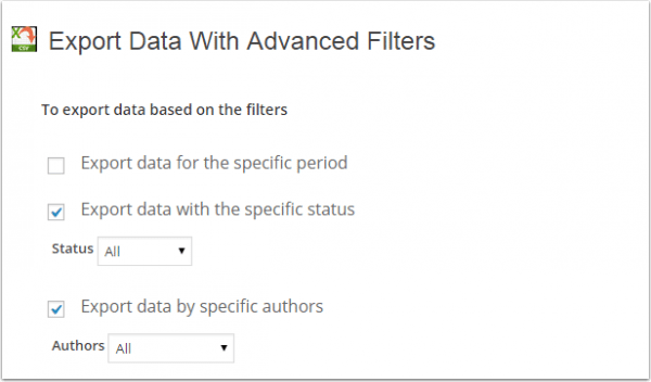 WP-Ultimate CSV Import-Export-Filter