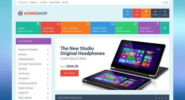 Home Shop theme wordpress woocommerce creer site vente en ligne