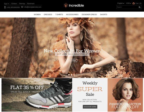 Incredible Prestashop Responsive Theme creer site web e Commerce