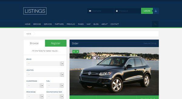 Daftar tema wordpress membuat situs real estate Dijual rumah persewaan mobil