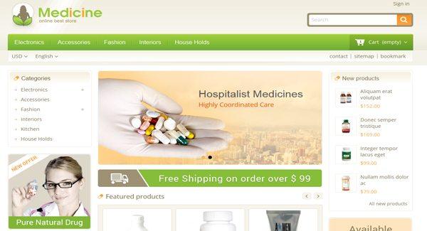 Medecine Thème Prestashop Creer Site E Commerce Pour Pharmacie