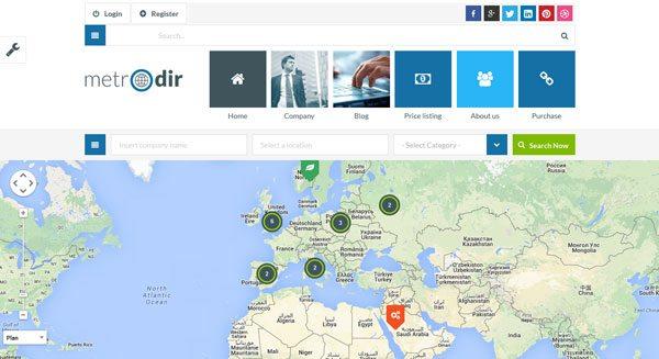 MetroDir : Un thème WordPress pour créer un annuaire (portail)