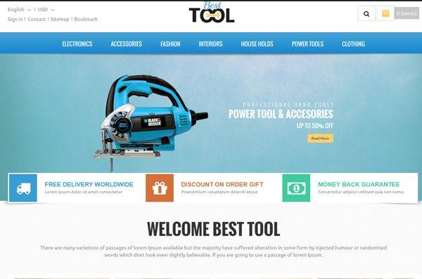 Tools Prestashop Responsive Theme Site Web E Commerce