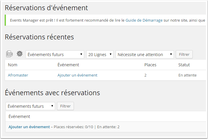 réservation-event-calendar
