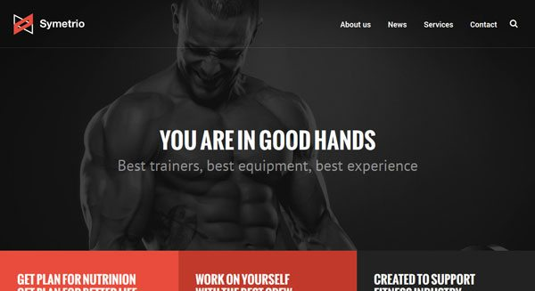 Symetrio Theme Wordpress Creer Site Sport Fitness Musculation Gym