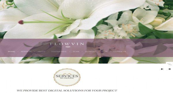 Flowvin un th me wordpress pour cr er un site de for Site fleuriste