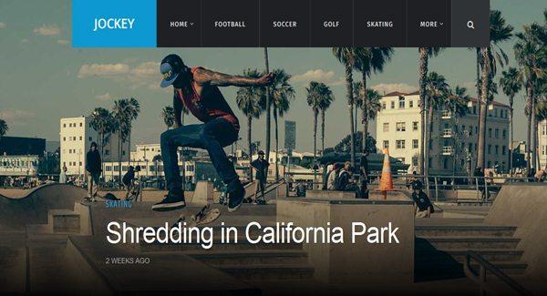 Jockey Wordpress tema-to-membuat-a-situs-of-Informasi-olahraga