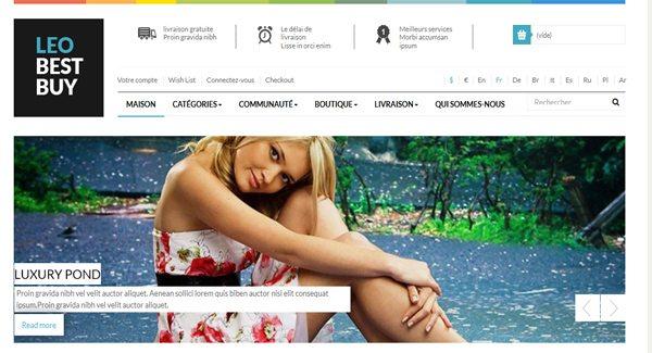 Leo Best Buy Thème Prestashop pour vendre des vêtements sur internet
