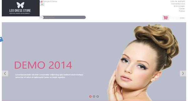 Leo Dress Store Thème Prestashop Pour Vendre Des Produits De Beauté