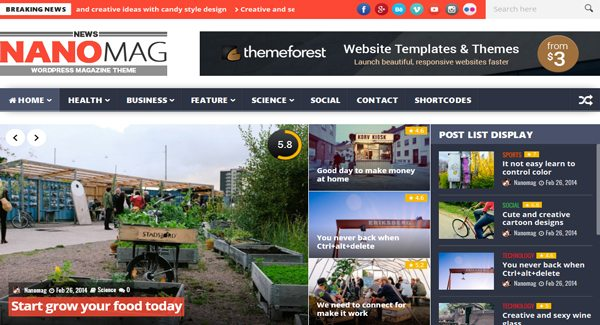 NanoMag-theme WordPress-to-create-a-site-info