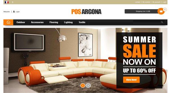 Pos Argona Thème Prestashop pour vendre décoration interieure