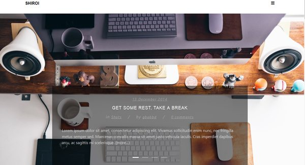 Shiroi-theme WordPress-to-criar-seu-blog