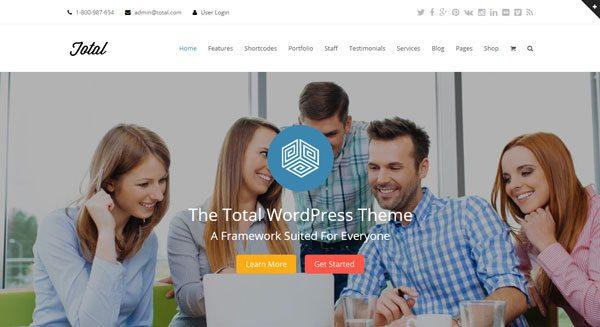 Total : le meilleur thème WordPress pour créer un site Web
