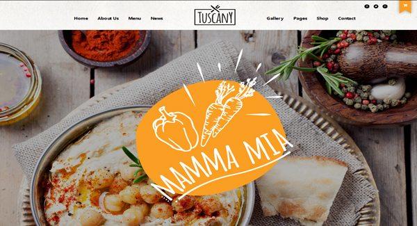 Tuscany-theme WordPress-to-create-a-site-de-restaurante