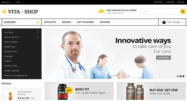 Vita-Shop-PrestaShop Tema-to-Pharmacy-on-Web