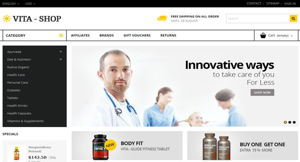 Vita-Shop-Thème-Prestashop-pour-Pharmacie-sur-internet