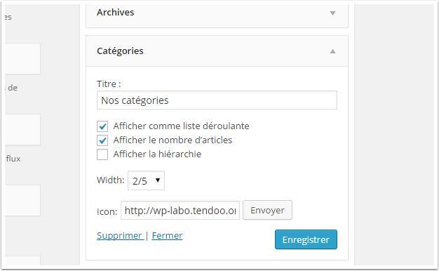 Cómo mostrar los widgets en una columna en WordPress | BlogPasCher