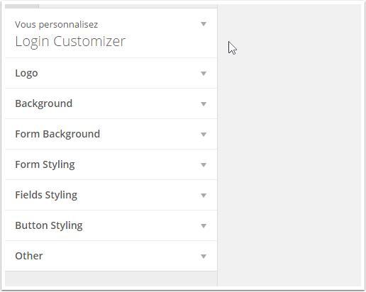 interface de login-personalizador