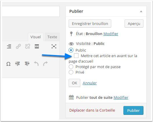 Cómo crear y publicar artículos resaltados en WordPress | BlogPasCher