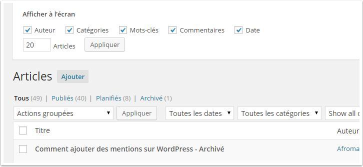 modifier-affichage-articles-wordpress