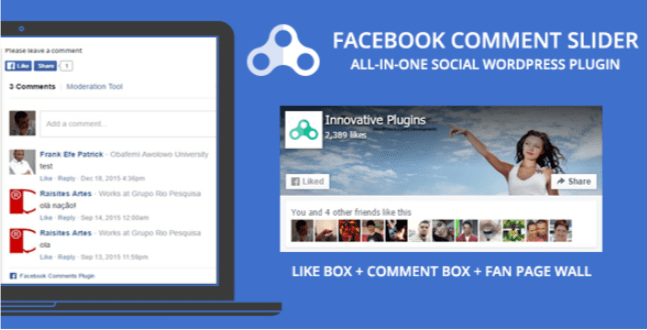 Facebook как слайдер