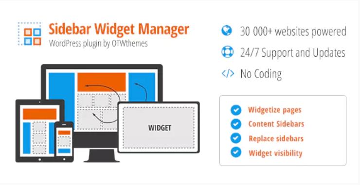 Sidebar widget manager for wordpress
