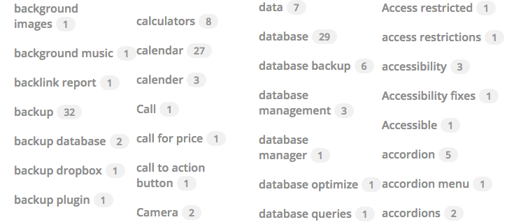 tag-listing