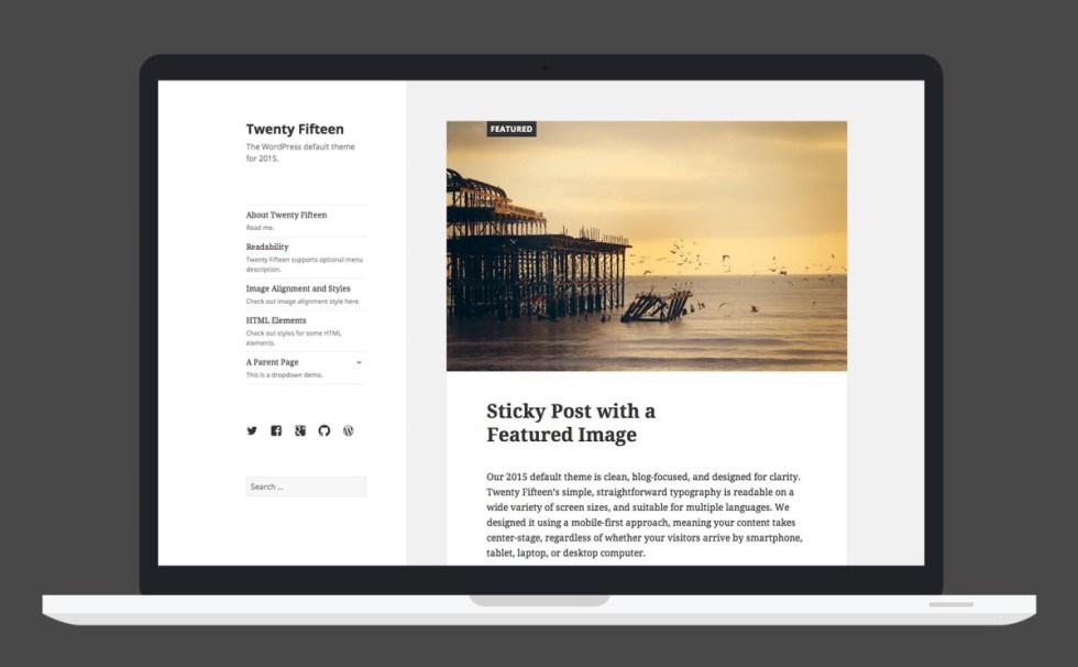 interface de utilizador-twentyfifteen
