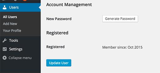 Výber dátumu webovej stránky užívateľské meno