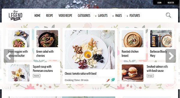 la-leyenda-theme-wordpress-blog-cómo-crear-cocina-tasa-creación in situ de comida