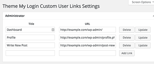 TML-customlinks