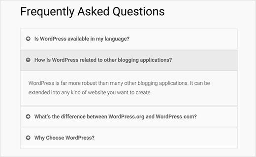 comment ajouter une faq sur wordpress